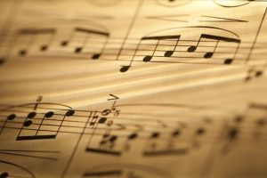 Children with learning difficulties prepare musical visual