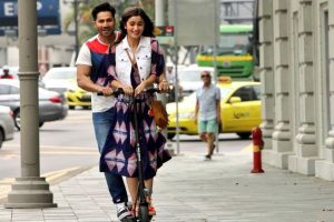 Alia Bhatt, Varun Dhawan shoot 'Badrinath Ki Dulhania' in Singapore