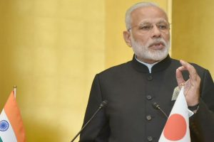 Modi leaves for Kobe aboard bullet train in Tokyo
