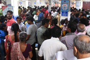 Chaos outside banks across the country for 3rd day