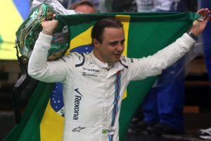 Felipe Massa in tears after emotional guard of honour