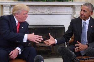 Trump hails Obama's sense of humour