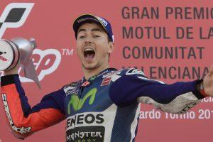 Jorge Lorenzo wins Valencia MotoGP