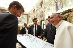 Pope receives German national soccer team