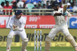 Vizag Test Day 1: India recover after losing openers early
