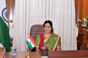 Sushma Swaraj leaves for Bangladesh on two-day visit