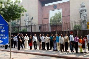 Ineligible people queuing up at RBI to deposit old notes: Government