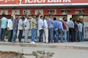 People suffer due to cash crunch in Telangana, Andhra