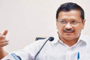 BJP protests against Delhi CM Arvind Kejriwal