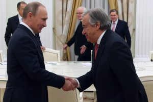 UN incoming secretary-general meets Putin