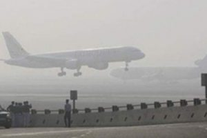 Fog induced low visibility halt operations at IGI airport
