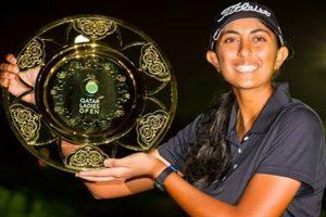 Aditi wins inaugural Qatar Ladies Open