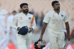 3rd Test: Ashwin, Jadeja stabalise innings after top-order collapse