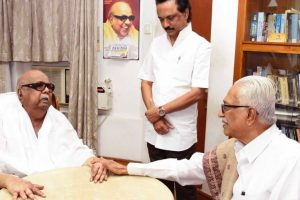 Karunanidhi hospitalised, condition stable