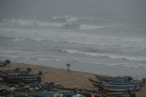 Heavy rains lash parts of Andhra due to cyclone