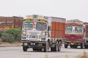 Truckers start indefinite strike to protest premium hike