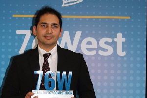 Shailesh Upreti wins $500,000 clean-tech award