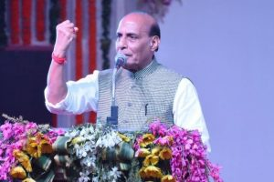 Pak conspiring to divide India on religious lines: Rajnath