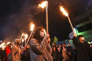 Protests in S Korea for President Park's resignation