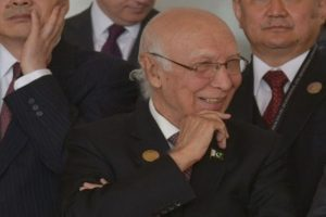 Pak-Afghan ties growing despite challenges: Sartaj Aziz