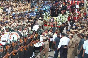 The final journey: Jayalalithaa laid to rest next to mentor MGR at Marina Beach