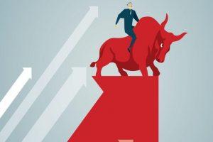 Sensex ends 406 pts up; Nifty regains 8,000 mark