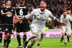 Ramos' late winner helps Real Madrid scrape past Deportivo 3-2