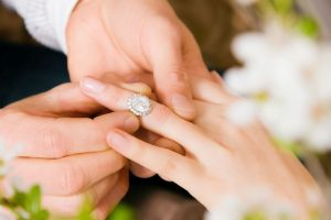 Engagement ring: Diamonds are forever