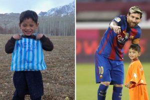 Messi meets his viral Afghan fan Murtaza