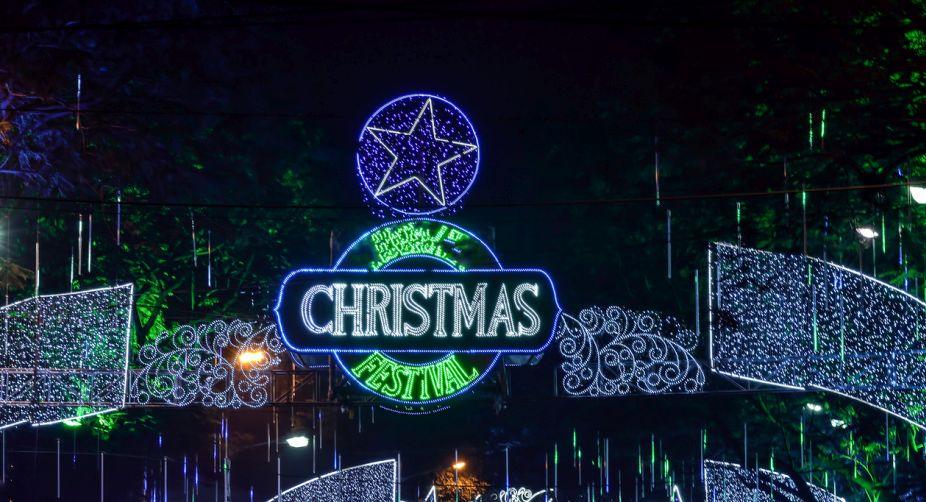 Park Street Kolkata During Christmas.Sixth Christmas Festival On Kolkata S Park Street From Dec