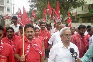 CPI-M stages protest rally outside RBI