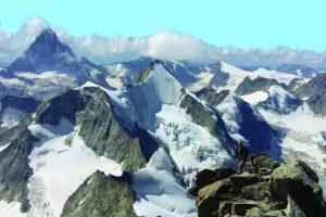 Dazzling mountainscape