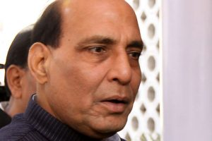 Rajnath Singh casts vote in Lucknow