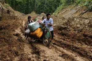 Assam villagers build 6-km road