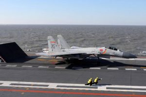 China's first aircraft carrier conducts drills in Pacific