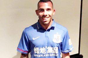 Carlos Tevez signs for Shanghai Shenhua