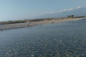 Quiet rolls the river Bogamati