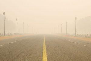 Cold, foggy Sunday morning in Delhi