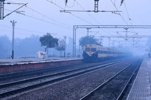 Misty Friday morning in Delhi, 23 trains cancelled