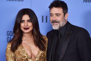 Priyanka joins Jeffrey Dean Morgan onstage at Golden Globes