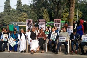 TMC MPs on sit-in in Delhi over demonetisation