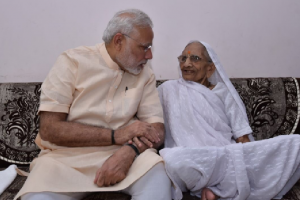 PM Modi skips yoga session to meet mother Hiraba