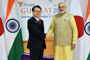 Japanese Industry Minister meets PM Modi