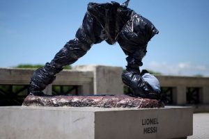 Lionel Messi's statue in Argentina vandalised
