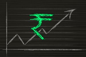 Rupee spurts 8 paise against dollar