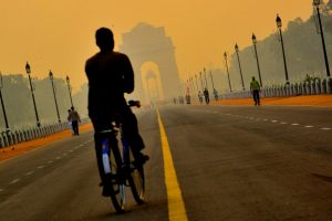 Cloudy sky, 'very-poor' air-quality in Delhi
