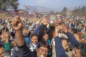 Villagers play rural rugby to celebrate 'Makar Sankranti'