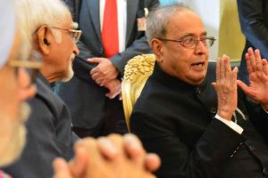 Trinamool delegation meets President Pranab Mukherjee