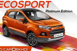 Ford EcoSport platinum edition launched at Rs.10.39 lakh
