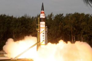 Agni-V test-fired from Island off Odisha coast